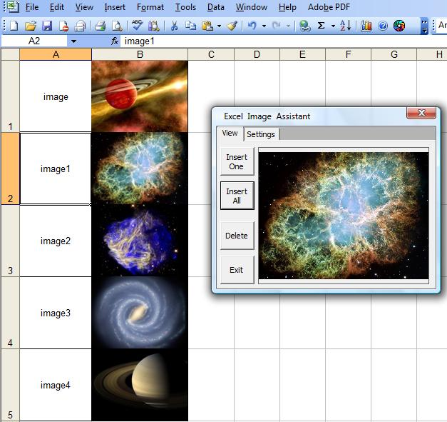 Excel image Assistant is an add in for Excel